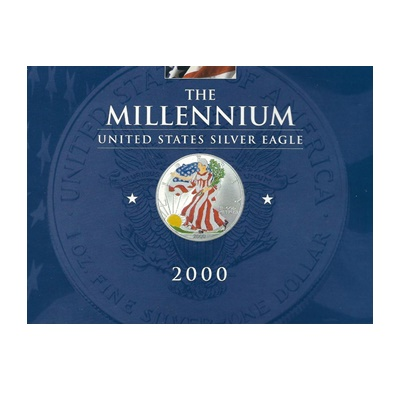 2000 1oz Silver Eagle - The Millennium